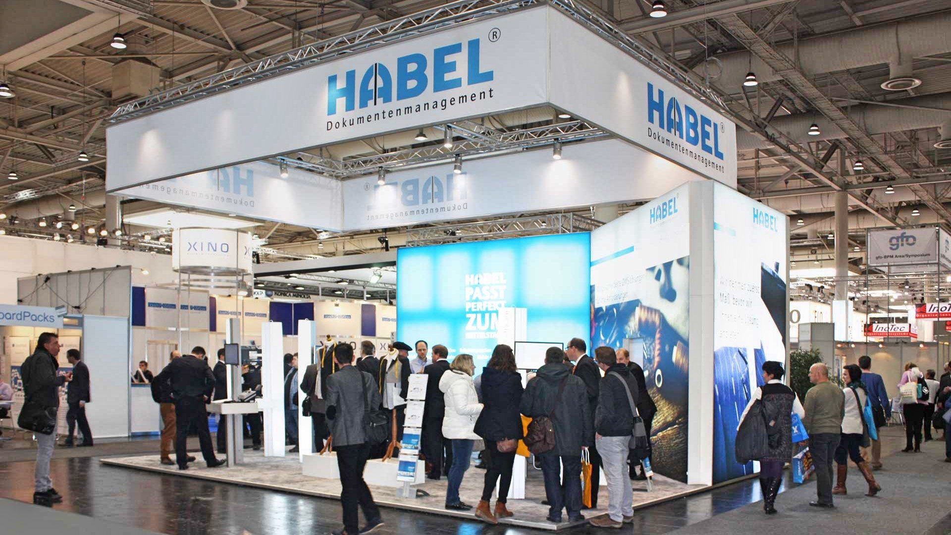 habel auf der cebit 2017 messestand dokumentenmangement